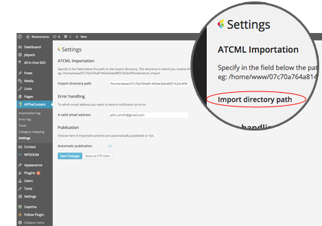 ATCML Importation - WordPress Plugin